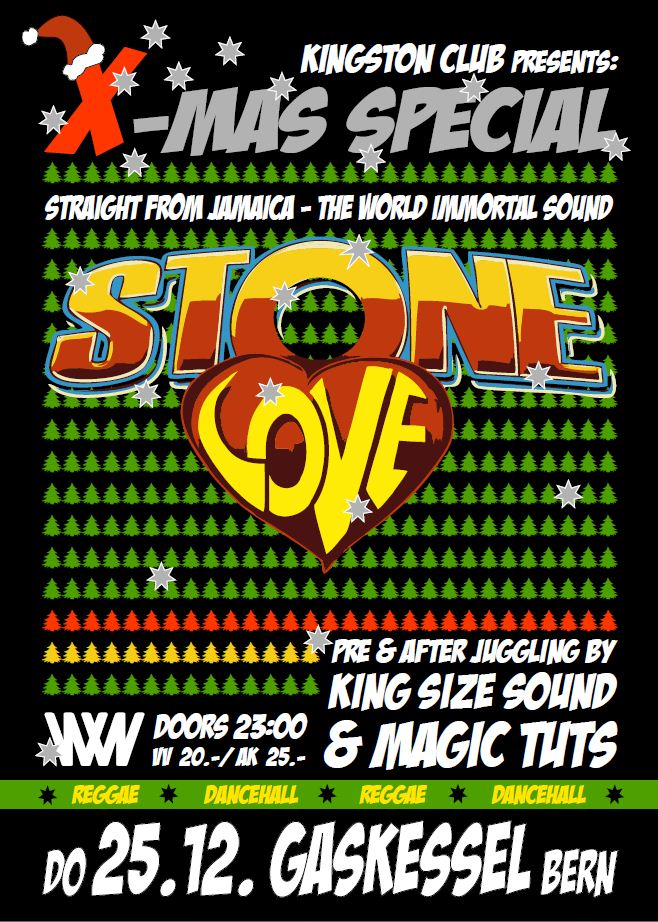 Kingston Club - X-Mas special with Stone Love, Magic Tuts & King Size Sound - 25th December 2014