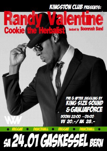 Randy Valentine & Cookie the Herbalist live in concert! 24.01.2015, Gaskessel, Bern