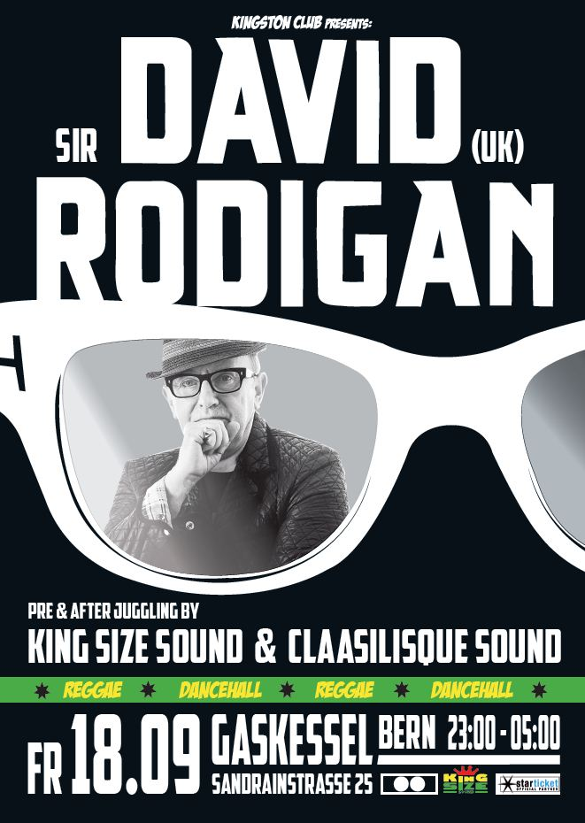 Kingston Club with Sir David Rodigan / Gaskessel, Bern / 18.09.2015