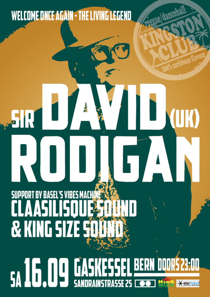 David Rodigan @ Kingston Club - Saturday, September 16th 2017 - Gaskessel, Bern/Switzerland