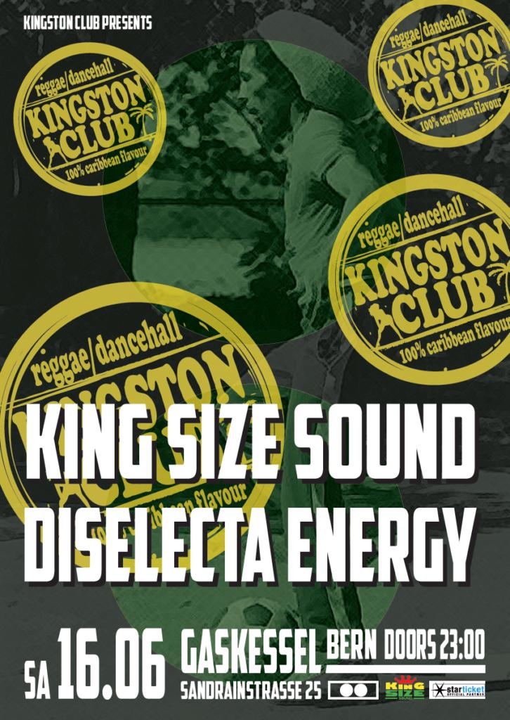 KingstonClub feat. King Size Sound & Diselecta Energy, Gaskessel, Bern - 16.06.2018