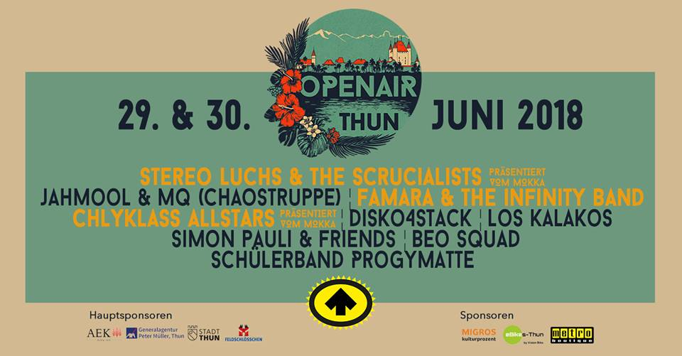 Open Air Thun - 29th and 30th July 2018