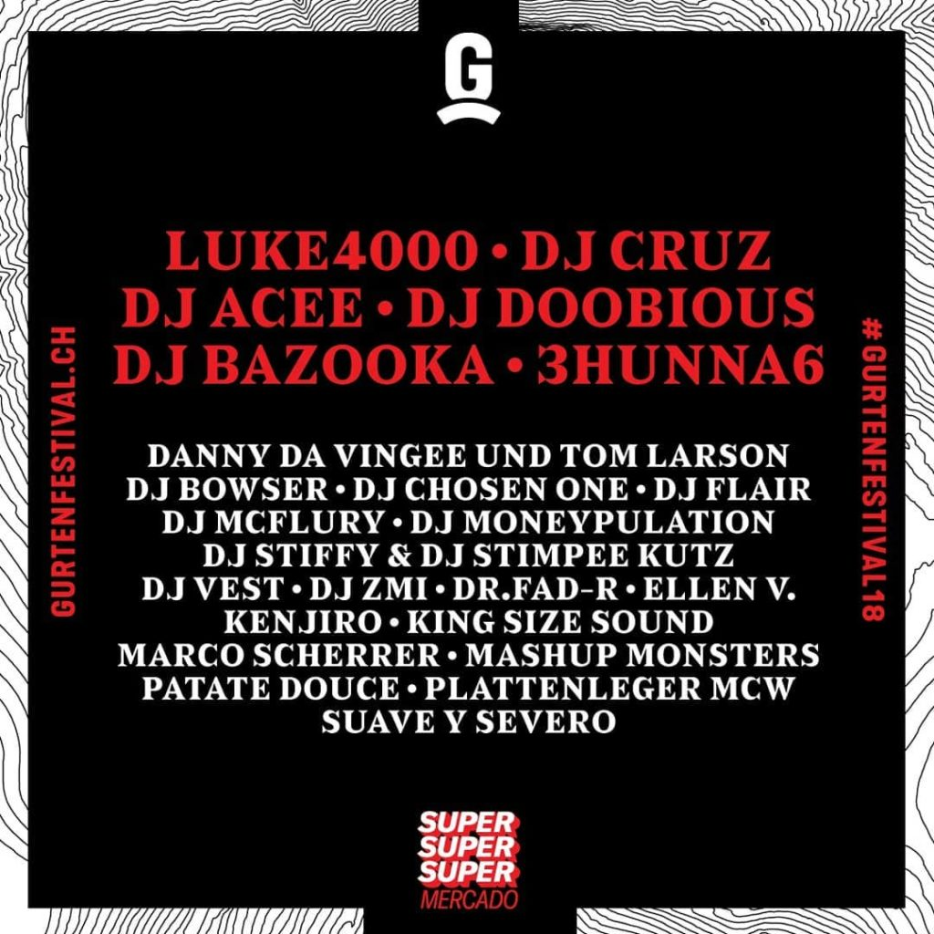 Super Mercado Line Up - Gurtenfestival, Bern - 2018