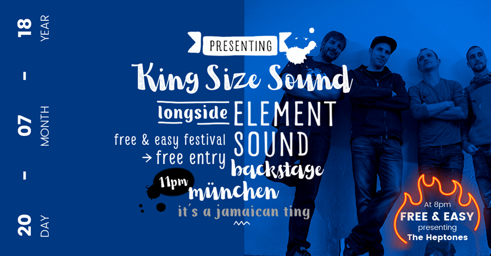 King Size Sound alongside Element Sound - JamaicanTing, Backstage/Munich/Germany